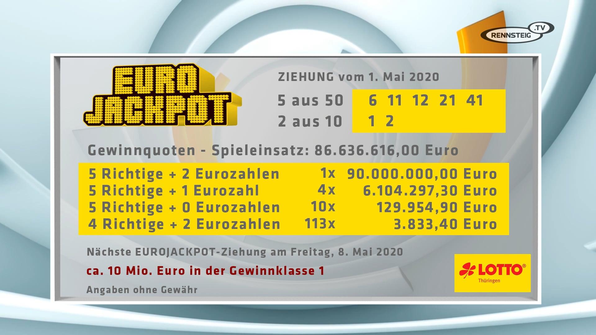 Eurojackpot 1 Mai